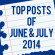Top Posts of June and July 2014
