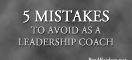 5 Mistakes to Avoid as a Leadership Coach