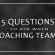 5 Questions to Ask When Coaching Teams