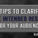 5 Tips to Clarify the Intended Result for Your Audience